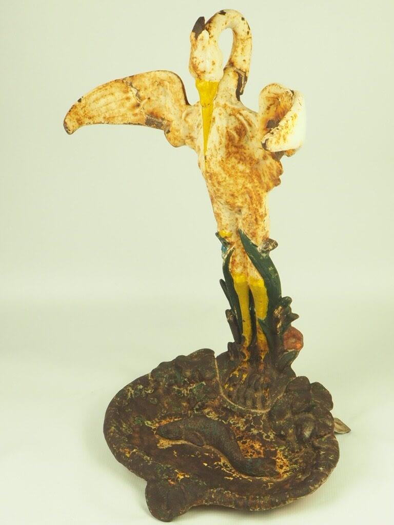 19th Century French Cast Iron Stork Umbrella Stand