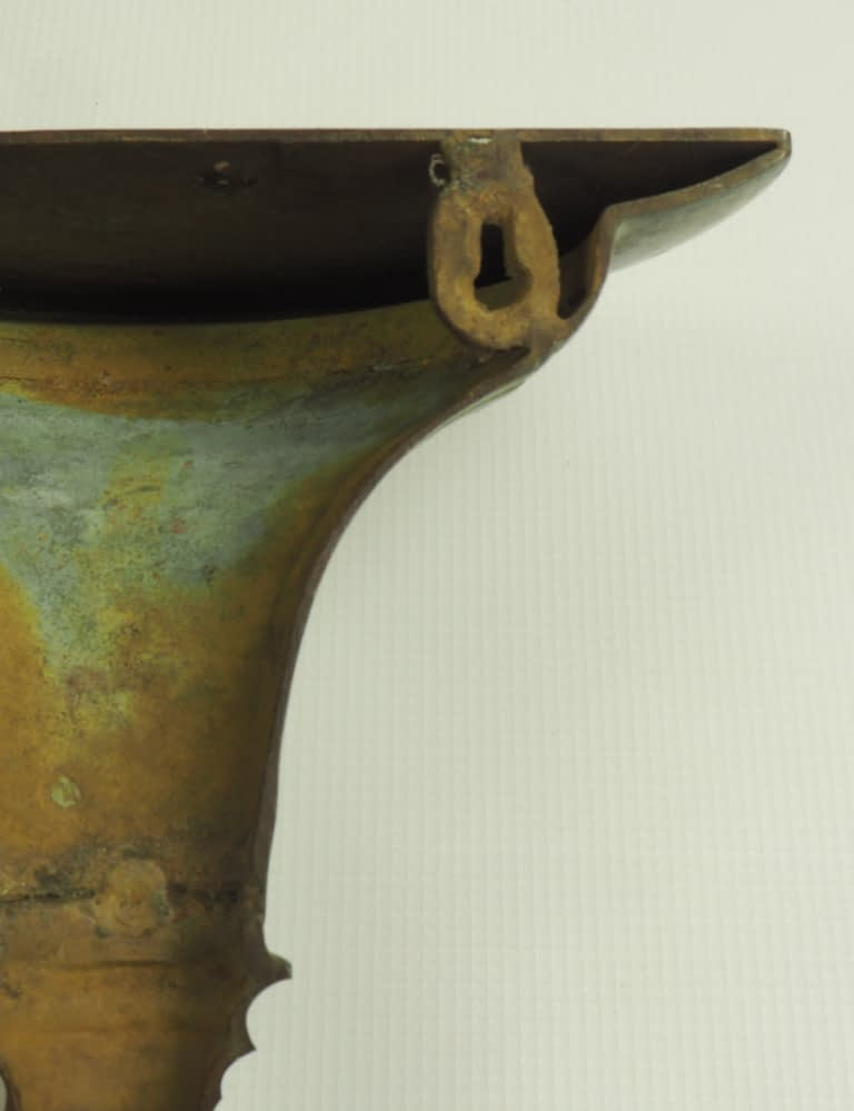 Antique Bronze Wall Mounted Sconce Decorative Display Shelf