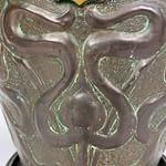 Art Nouveau Embossed Copper Helmet Coal Scuttle