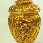 Mid Century Italian Florentine Plaster Gilt Table Lamp