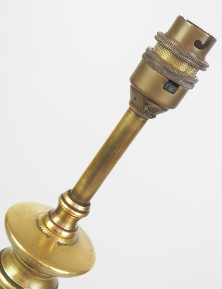 BRASS COLUMN LAMP 3