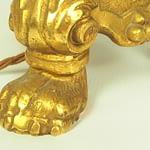 20th Century Gilt Bronze Napoleon Candlestick Table Lamp