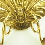 19th Century Rare Antique Brass Clam-shell Candle Wall Sconce with British Registration Mark Stamped