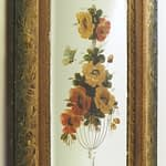 Antique Victorian Bevelled Gypsy Hand Painted Mirror