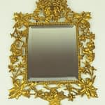 Antique Ornate Gilt Bronze Wall Mirror