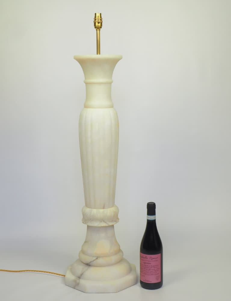 Large Alabaster Column Floor Lamp - Ideal for Garden room or Orangery