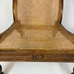 Early 20th Century Anglo Indian Carved Rosewood Bergere Armchair