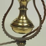 Antique Solid Brass Gimbal Table Lamp / Wall Light - Royal Navy Ship Marine